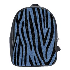 Skin4 Black Marble & Blue Denim School Bag (large) by trendistuff