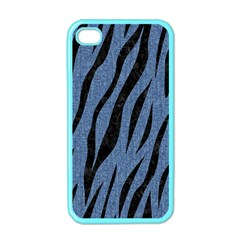 Skin3 Black Marble & Blue Denim (r) Apple Iphone 4 Case (color) by trendistuff