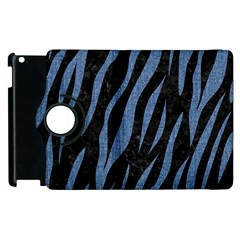 Skin3 Black Marble & Blue Denim Apple Ipad 3/4 Flip 360 Case by trendistuff