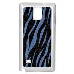 Skin3 Black Marble & Blue Denim Samsung Galaxy Note 4 Case (white) by trendistuff