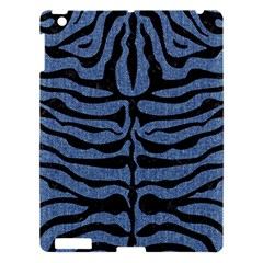 Skin2 Black Marble & Blue Denim (r) Apple Ipad 3/4 Hardshell Case by trendistuff