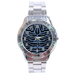 Skin2 Black Marble & Blue Denim Stainless Steel Analogue Watch