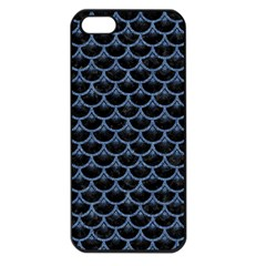 Scales3 Black Marble & Blue Denim Apple Iphone 5 Seamless Case (black) by trendistuff