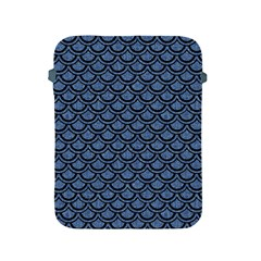 Scales2 Black Marble & Blue Denim (r) Apple Ipad 2/3/4 Protective Soft Case by trendistuff