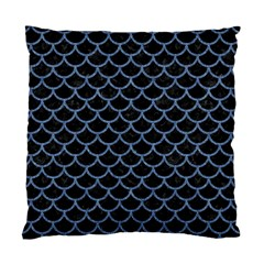 Scales1 Black Marble & Blue Denim Standard Cushion Case (two Sides) by trendistuff