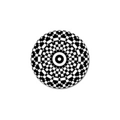 Checkered Black White Tile Mosaic Pattern Golf Ball Marker (4 Pack) by CrypticFragmentsColors