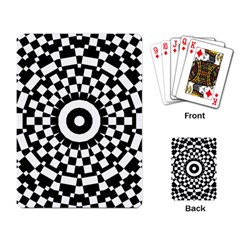 Checkered Black White Tile Mosaic Pattern Playing Card by CrypticFragmentsColors