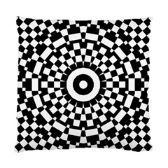 Checkered Black White Tile Mosaic Pattern Standard Cushion Case (one Side) by CrypticFragmentsColors