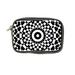 Checkered Black White Tile Mosaic Pattern Coin Purse by CrypticFragmentsColors