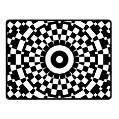 Checkered Black White Tile Mosaic Pattern Fleece Blanket (small) by CrypticFragmentsColors