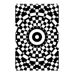 Checkered Black White Tile Mosaic Pattern Shower Curtain 48  X 72  (small)  by CrypticFragmentsColors