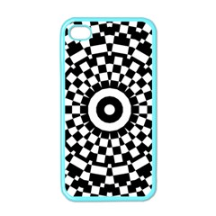 Checkered Black White Tile Mosaic Pattern Apple Iphone 4 Case (color) by CrypticFragmentsColors