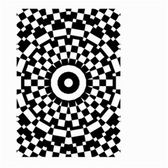 Checkered Black White Tile Mosaic Pattern Large Garden Flag (two Sides) by CrypticFragmentsColors