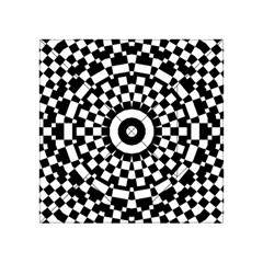 Checkered Black White Tile Mosaic Pattern Acrylic Tangram Puzzle (4  X 4 ) by CrypticFragmentsColors