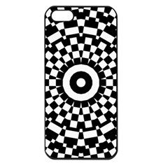 Checkered Black White Tile Mosaic Pattern Apple Iphone 5 Seamless Case (black) by CrypticFragmentsColors
