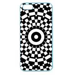 Checkered Black White Tile Mosaic Pattern Apple Seamless Iphone 5 Case (color) by CrypticFragmentsColors