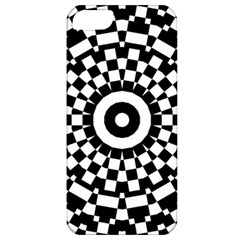 Checkered Black White Tile Mosaic Pattern Apple Iphone 5 Classic Hardshell Case by CrypticFragmentsColors
