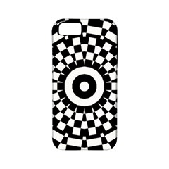 Checkered Black White Tile Mosaic Pattern Apple Iphone 5 Classic Hardshell Case (pc+silicone) by CrypticFragmentsColors