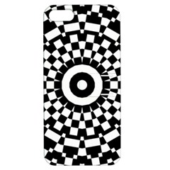 Checkered Black White Tile Mosaic Pattern Apple Iphone 5 Hardshell Case With Stand by CrypticFragmentsColors