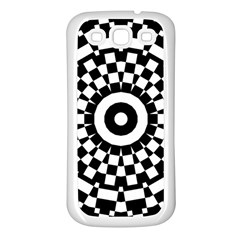 Checkered Black White Tile Mosaic Pattern Samsung Galaxy S3 Back Case (white) by CrypticFragmentsColors