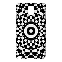 Checkered Black White Tile Mosaic Pattern Samsung Galaxy Note 3 N9005 Hardshell Case by CrypticFragmentsColors