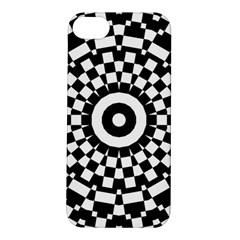 Checkered Black White Tile Mosaic Pattern Apple Iphone 5s/ Se Hardshell Case by CrypticFragmentsColors