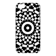 Checkered Black White Tile Mosaic Pattern Apple Iphone 5c Hardshell Case by CrypticFragmentsColors