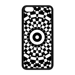 Checkered Black White Tile Mosaic Pattern Apple Iphone 5c Seamless Case (black) by CrypticFragmentsColors