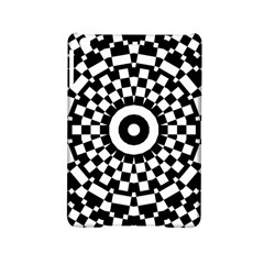 Checkered Black White Tile Mosaic Pattern Ipad Mini 2 Hardshell Cases by CrypticFragmentsColors