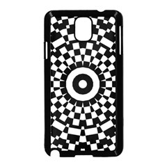 Checkered Black White Tile Mosaic Pattern Samsung Galaxy Note 3 Neo Hardshell Case (black) by CrypticFragmentsColors