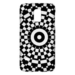 Checkered Black White Tile Mosaic Pattern Galaxy S5 Mini
