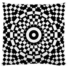 Checkered Black White Tile Mosaic Pattern Large Flano Cushion Case (two Sides) by CrypticFragmentsColors