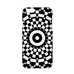 Checkered Black White Tile Mosaic Pattern Apple Iphone 6/6s Hardshell Case by CrypticFragmentsColors