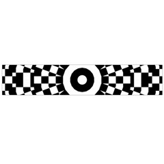 Checkered Black White Tile Mosaic Pattern Flano Scarf (large) by CrypticFragmentsColors