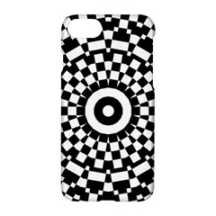 Checkered Black White Tile Mosaic Pattern Apple Iphone 7 Hardshell Case by CrypticFragmentsColors