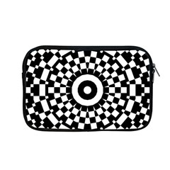 Checkered Black White Tile Mosaic Pattern Apple Macbook Pro 13  Zipper Case by CrypticFragmentsColors