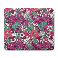 Seamless Floral Pattern Background Large Mousepads by TastefulDesigns