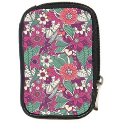 Seamless Floral Pattern Background Compact Camera Cases by TastefulDesigns