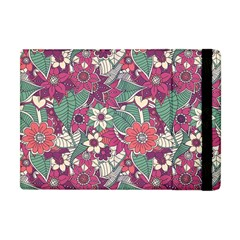 Seamless Floral Pattern Background Apple Ipad Mini Flip Case by TastefulDesigns