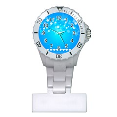 Blue Dot Star Plastic Nurses Watch by Simbadda
