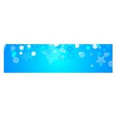 Blue Dot Star Satin Scarf (oblong) by Simbadda
