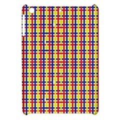 Yellow Blue Red Lines Color Pattern Apple Ipad Mini Hardshell Case by Simbadda