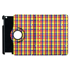 Yellow Blue Red Lines Color Pattern Apple Ipad 3/4 Flip 360 Case by Simbadda