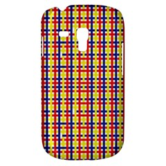 Yellow Blue Red Lines Color Pattern Galaxy S3 Mini