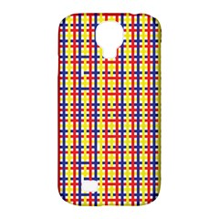 Yellow Blue Red Lines Color Pattern Samsung Galaxy S4 Classic Hardshell Case (pc+silicone) by Simbadda