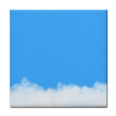 Blue Sky Clouds Day Tile Coasters