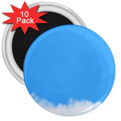 Blue Sky Clouds Day 3  Magnets (10 Pack)  by Simbadda