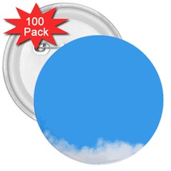 Blue Sky Clouds Day 3  Buttons (100 Pack)  by Simbadda