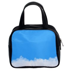 Blue Sky Clouds Day Classic Handbags (2 Sides) by Simbadda