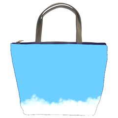 Blue Sky Clouds Day Bucket Bags by Simbadda